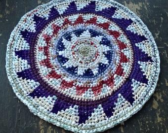 Bloom Fair Isle Crochet Rag Rug