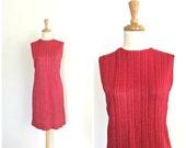 Vintage Red Shift Dress -...