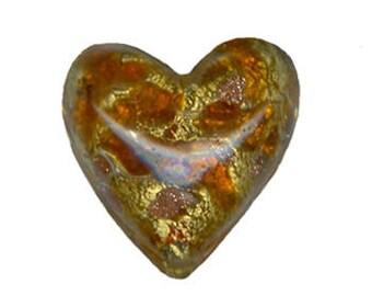 Murano Glass Beads, Topaz, Venetian Beads, Murano Heart Bead, Venetian Glass Beads, Italian Glass Beads, Italian Bead, Murano Glass, Italian