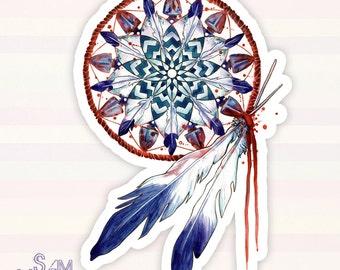 Dreamcatcher Mandala vinyl sticker