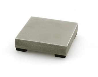 "Impressart Mini Steel Bench Block - 2 x 2 x 3/8"" -  Perfect for small spaces"