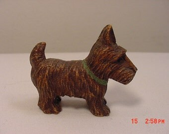 Vintage Brown Scottish Terrier Scottie Dog Figurine  17 - 168