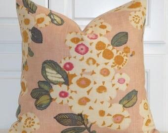 Decorative Pillow Cover - Blush Pink Large Floral - Toss Pillow - Sofa Pillow - Custom Pillow -