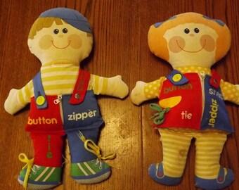 Vintage Playskool Dressy Bessy & Dapper Dan Dolls