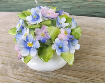 Royal Albert Flower of the Month Series, Forget Me Not Flower Figurine