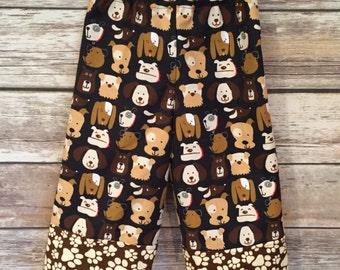 12-18M toddler pajama, dog pajamas, puppy pajamas, flannel pants, flannel pajamas, toddler pajamas, puppy pjs, dog pjs, flannel pj pants