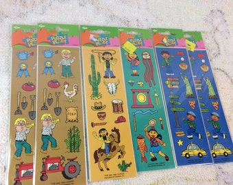 1995 The Puzzle Place Stickers by Russ - Lot of 6 Sealed Packs 90s Kids