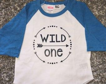 Wild one shirt birthday shirt kids funny shirt
