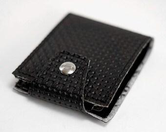 Black Volkswagen Bug Pattern Billfold Wallet- Made of VW Patterned Car Vinyl