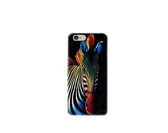 iPhone 6 case iphone 6S case iphone 6 plus case iphone 7 case mobile Apple iphone 7 plus case cover pop art zebra horse color stripes funny