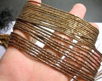 Hematite bronze copper - 2mm hexagon heishi  beads - full strand - 200 beads - AA quality  - PHG252
