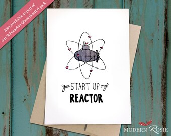 You Start Up My Reactor (Submarine) - Submarine Sweetheart Card