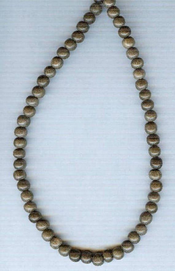 Stunning High Quality Graywood Wood Beaded Bracelet or Necklace
