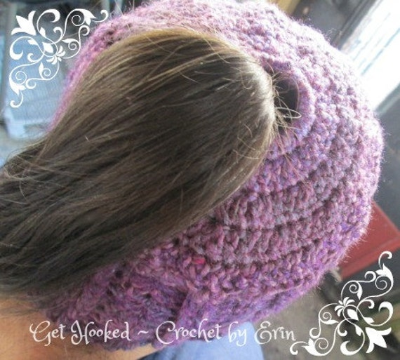 Ponytail/messy bun beanie (child to adult sizes available)