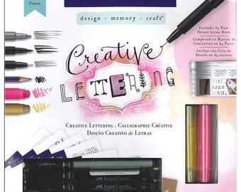 Faber-Castell Kits Creative Lettering Gelatos Envelope Guide Stencils