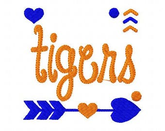 Tigers //Football// Machine Embroidery Design // Sports Embroidery Design // Mascot Embroidery Design //Embroidery Design//Joyful Stitches