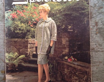 Vintage 1963 Spinnerin Yarn Knitting Pattern Book Volume 161