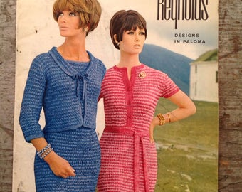 Vintage 1960's Reynolds Yarn Knitting Pattern Book Volume 51