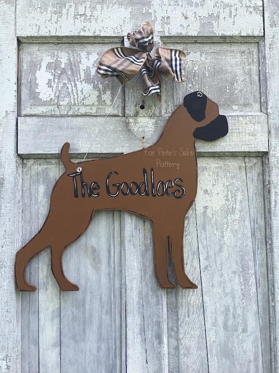 Custom Dog Door hanger, Pet door hanger, Wood Dog door hanger, Personalized dog door hanger, Labrador sign, Custom dog sign, Dog welcome