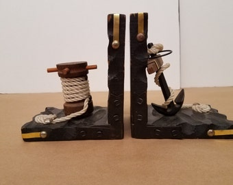 Pair of Vintage Nautical Book Ends