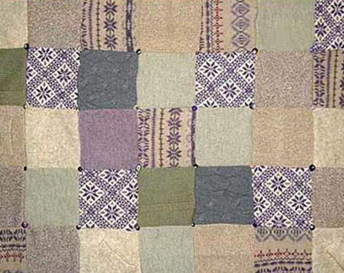 "My ""Meadow Diamonds"" Wool Sweater Quilt — I can make one similar for you!"