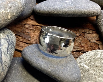 Wide Low Domed Sterling Silver ring