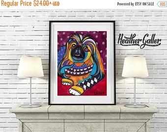 50% Off Today- Pekingese Art dog  Art Print Poster by Heather Galler (HG748)