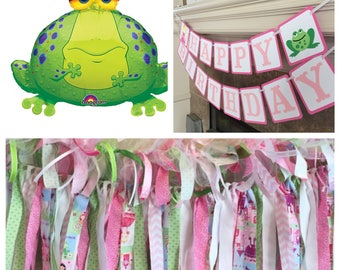 "Princess Party Decorations - Frog Foil Balloon - 30"" Frog Balloon -Princess and Pea Decorations - Frog Balloon - Princess Party"