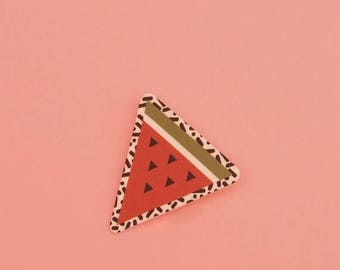 CLEARANCE Watermelon Brooch // Geometric Brooch // Tropical Brooch // Graphic Brooch // Shrink Plastic // Memphis Inspired Small