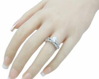 sterling silver wedding set