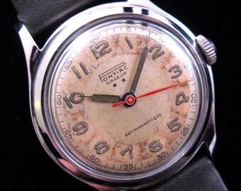 Pontiac Swiss Watch - Military Style - c.1940's