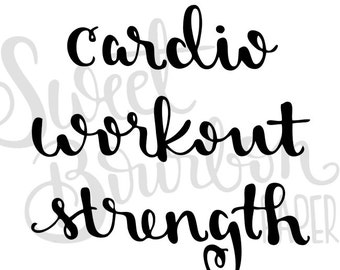 Workout Lettering // Hand-Drawn Planner Stickers