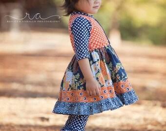Fall New Botanical Knit Top  Dress