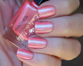 "Nail polish - ""A Pink Acquisition"" Pink coral shimmer"