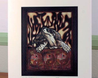 Tai Chi Tortoise Matte Print 11 x 14