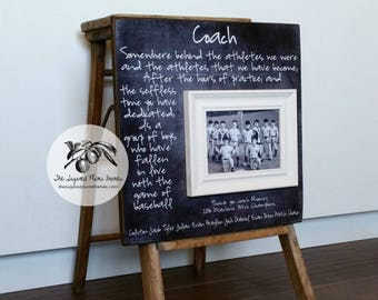Softball Coach Gift, Softball Coach Frame, Coach Thank You Gift, End of Year Gift, Softball Coach 16x16 The Sugared Plums Frames