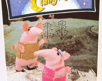 CLANGERS Toy knitting Pattern The Clangers TV Series Vintage Original Toy Knitting Pattern