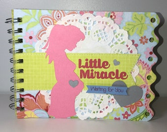 Premade Pregnancy Scrapbook Album, Pregnancy Journal, Pregnancy Mini Album, Pregnancy Gift, Expecting Scrapbook Album, Expecting Mini Album