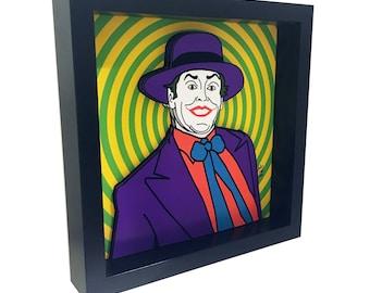 Batman 1989 Jack Nicholson Joker 3D Art Tim Burton Batman 89 Print Pop Art