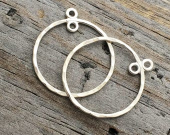 Sterling Silver Hoop Chandelier 3/4 inch Earring component Jewelry Supplies Sterling Silver Chandelier Earring Component