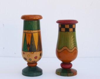 Wood Egg Cup Set, Wooden egg holders, Carved Egg Cups