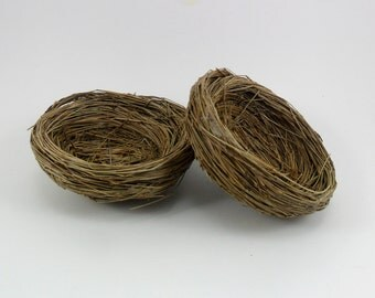 "2 Bird Nests 4"" Grass Nest"