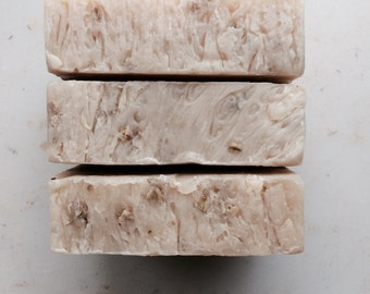 LAVENDER OATMEAL Goat Milk Soap --Organic Ingredients- By Dirt Tribe