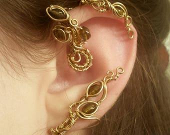 Golden Vine Ear Wrap - Inspired by Belle's cuff