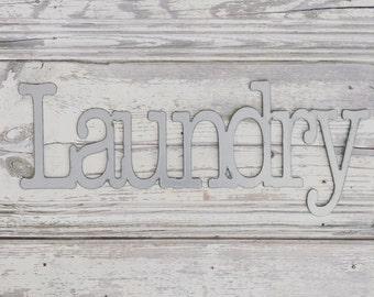 Laundry Metal Galvanized Sign