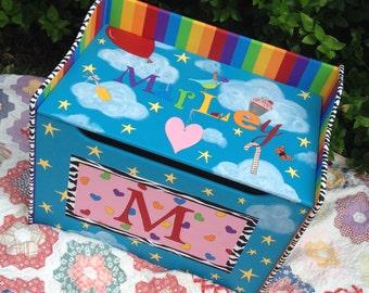 Custom Personalized Toy Chest Toy Box Treasure Chest Nursery Decor