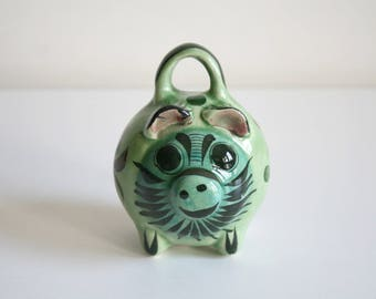 Small Green Mexican Piggy Bank