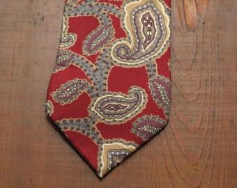 mens vintage Christian Dior paisley tie