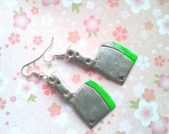 The Walking Dead Earrings -  Zombie Blood Cleaver Earrings - Zombie hunter