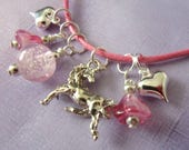 Girl Unicorn Necklace, Glow in the Dark, Little Girl, Princess
